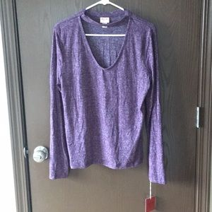 Purple choker top